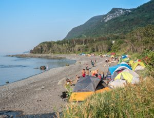 Camping sur la plage